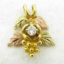 Beautiful Black Hills Gold 10k Diamond Necklace Pendant