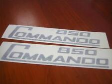 Norton Commando 850 Sidecover Stickers **Black**