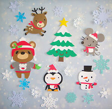 Cute Animals Winter Christmas Mouse Penguin Snowma Paper Scrapbook Embellishment