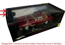 FERRARI 410 SUPERAMERICA BURGUNDY DIE CAST 1/18 BY HOT WHEELS ELITE T6248