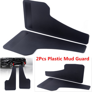 2Pcs Carbon Fiber Plastic Car Front&Rear Wheel Moulding Mud Splash Guards Parts