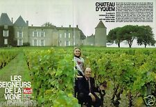Coupure de Presse Clipping 1987 (6 pages) Le Chateau d'Yquem