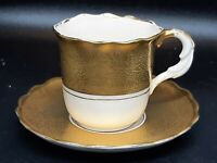 Antique Stafford gold encrusted espresso cups & saucer in good vintage condition