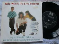 """Ian & Belinda Who Wants To Live Forever. Brian May Odeon ODO 112 Vinyl 7"""" Single"""