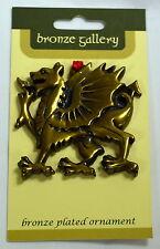 Welsh DRAGON design bronze plated HANGING ORNAMENT, Wales / Cymru