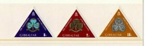 A LOVELY MLH 1975 GIBRALTAR SET OF 3 STAMPS, 50TH ANNIVERSAY OF GIRL GUIDES