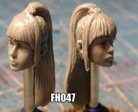 "FH106 female head cast for use with 3.75/"" Star Wars Acid Rain GI Joe figures"