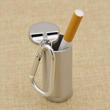 1pc Useful Metal Ashtray With Key Chain Mini Pocket Portable Ash Holder Cylinder