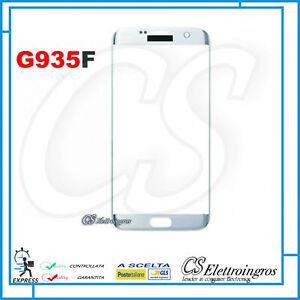 Vetro curvo frontale silver per Samsung Galaxy S7 Edge SM G935 G935F Ricambio