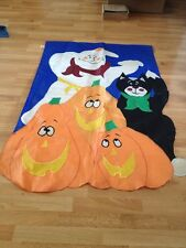 Halloween Theme Black Cat Ghost Pumpkin Garden Yard Flag Banner