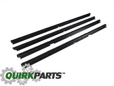 99-04 JEEP GRAND CHEROKEE DOOR BELT MOLDINGS WEATHER STRIP SET / 4 MOPAR GENUINE