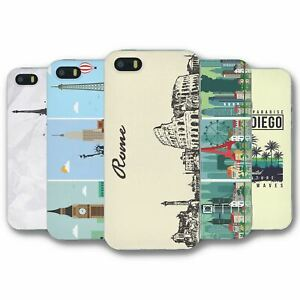 For iPhone 5 5S Silicone Case Cover Cities Collection 3