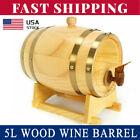 5L Wood Pine Timber Wine Barrel Beer Whiskey Rum Port Wooden Keg Hot Sale USA