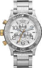Nixon Men's A0372129 42-20 Chrono Analog Display Japanese Quartz Silver Watch