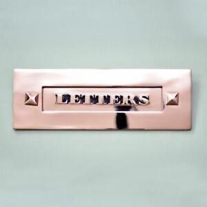 CLASSIC NICKEL PERIOD 'LETTERS' LETTERBOX  WITHOUT CLAPPER (*ATC)
