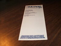 APRIL 1980 AMTRAK PHILADELPHIA-HARRISBURG PUBLIC TIMETABLE