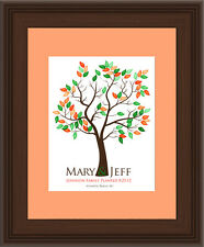 16x20 FINGERPRINT WEDDING GUEST BOOK TREE, Wedding Gift Poster, Personalized 112