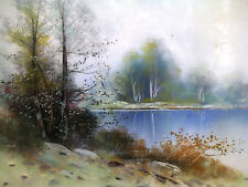 1931, Pair of Landscape Original Paintings Pastels by Friedrich LUDWIG