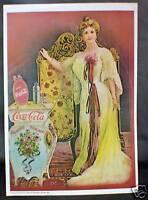 """Coca - Cola Poster 1975 131/2""""x 93/4"""" vintage Coca-Cola Poster"""