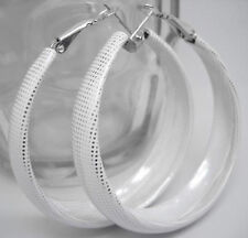 E1001 elegant lady's fashion white girl hoop earrings hot sell jewelry