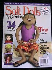 SOFT DOLLS & ANIMALS NOVEMBER 2005 doll patterns, techniques, tips, magazine