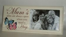 Mum's Arms Table Top Message Photo Frame Mummy/Mother Mothers Day Gift Wood