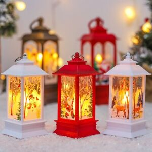 Santa Xmas Gift Lantern Light Merry Christmas Decoration For Home Christmas Tree