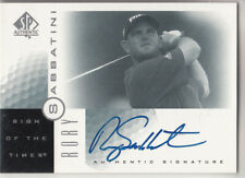 2001 UD SP AUTHENTIC RORY SABBATINI SIGN OF THE TIMES AUTO AUTOGRAPH