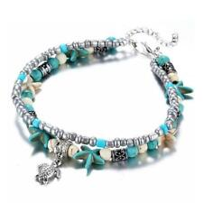 Chain Sexy Beach Gift Bracelet R7X2 Retro Double layer Turtle Anklets Foot