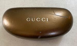 Gucci Eyeglass Hard Case Clamshell Sunglasses Bronze/Gold