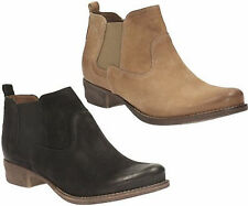 Clarks Block Heel Pull On Ankle Boots for Women