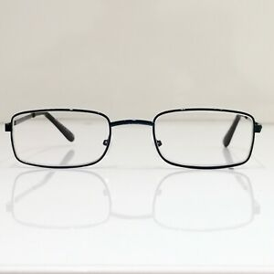 Metall Lesebrille leicht kompakt Lesehilfe dünne Gläser Etui drei Farben NEU