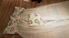 Babybett-himmel 2x  die Schleife kann als Kissen verwendet werden