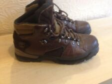 mens timberland boots act-rare vintage-brown leather&suede-uk8.5-excellent