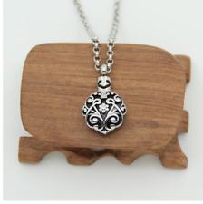 Decorative Necklace Pendant Urn Open Capsule Jewellery Keepsake Memorial Chain