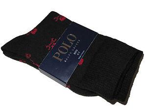 Polo Ralph Lauren Skull Crossbones Little Boys Black Dress Socks Size 4 - 7