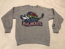 Vtg Columbus Blue Jackets Stinger Logo Starter Sweatshirt Youth size Large 14-16