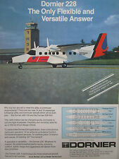 4/1981 PUB DORNIER 228 228-100 COMMUTER AIRCRAFT AVION PARIS AIRSHOW ORIGINAL AD