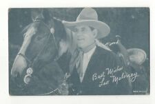 "Leo Maloney ""Best Wishes"" 1940's 1950's Salutations Cowboy Exhibit Arcade Card"