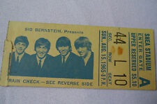 BEATLES Original__1965__CONCERT TICKET STUB__Shea Stadium, NYC