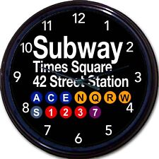 """New York City Times Square 42 Street Station Subway Sign Wall Clock New 10"""""""