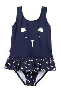 SOOKIBABY Kid Navy Blue Cute Bear Skirted Swimsuit 24 months NWT UPF 50+