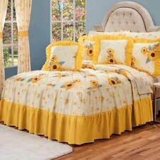 Sunflowers BEDSPREAD and SHEET set FULL SIZE Perfect gift and decoration 9PCS