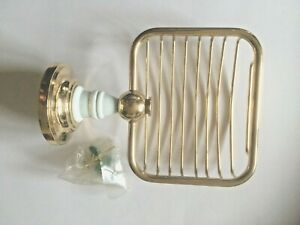 NEW SOAP DISH HOLDER GOLD COLOUR BRASS WALL MOUNTED