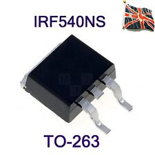 IRF540NS F540NS N-Channel Power TRANSISTOR 0,044Ω 100 V D²PAK IR TO-263 UK STOCK