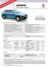 Prospekt / Brochure Mitsubishi ASX Edition 03/2012