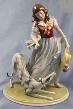 porzellanfigur Frau hund Windhund Greyhound Rosenthal figur porzellan figur