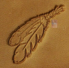 CRAFTOOL - TANDY LEATHER 3D STAMP - 8600-00  FEATHERS  - NEW