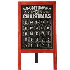 "RAZ 28"" CHALKBOARD COUNTDOWN TO CHRISTMAS SIGN NEW PLAQUE 3516377 WOW!"