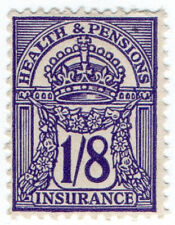 (I.B) George V Revenue : Health & Pensions Insurance 1/8d